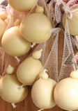 Many forms of caciocavallo cheese for sale in Italy Stock Photo