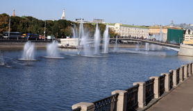 Many fountain on river Stock Photos