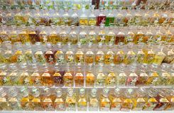 Many fragrance oil bottles for sale at Central Market, Kuala Lum Royalty Free Stock Photos