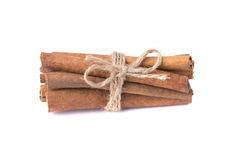 Many fragrant cinnamon sticks Royalty Free Stock Photo