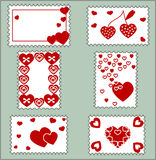 Many framework hearts. Vectors illustration Vector Illustration