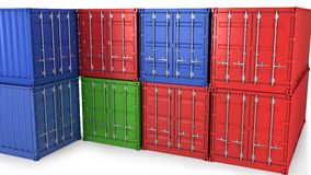 Many freight containers Royalty Free Stock Image