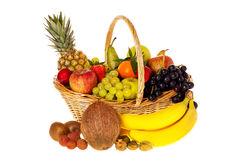 Many fresh fruits Royalty Free Stock Image