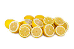 Many Fresh Lemons Stock Photography
