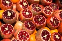 Many fresh pomegranates Royalty Free Stock Image