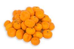 Many fresh raw orange on white background. Many fresh raw orange and isolation background Stock Photo