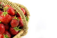 Many fresh red strawberries Stock Photo