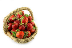 Many fresh red strawberries Stock Photos