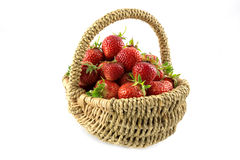 Many fresh red strawberries Royalty Free Stock Images