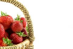 Many fresh red strawberries Stock Photo