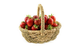 Many fresh red strawberries Royalty Free Stock Photo