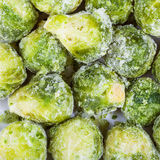Many frozen Brussels sprouts Royalty Free Stock Image