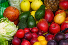 Many fruit. lots of ripe fruit. Royalty Free Stock Images