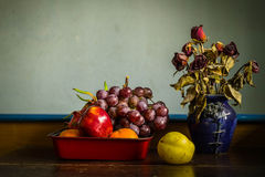 Many fruits and flowers Royalty Free Stock Image