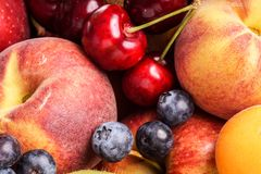Many fruits , large selection Royalty Free Stock Photography