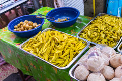 Many fruits preserve selling in street markets Royalty Free Stock Images