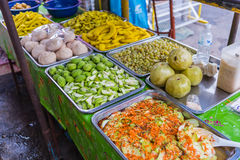 Many fruits preserve selling in street markets Stock Image