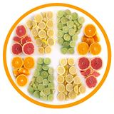 Citrus fruit icon concept Royalty Free Stock Image