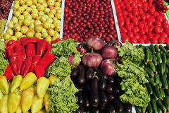 Many fruits and vegetables. Colourful composition Royalty Free Stock Image