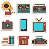Many functions carries a modern mobile phone. Royalty Free Stock Images