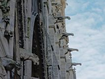 Many gargoyles of the Notre Dame cathedral, Paris, France Royalty Free Stock Photography