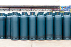 Many of the Gas bottles balloons with propane butane Royalty Free Stock Photo