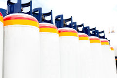 Many of the Gas tanks Royalty Free Stock Photos