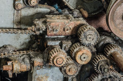 many gears from machine Royalty Free Stock Images