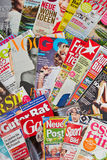 Many German magazines Royalty Free Stock Photos