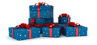 Many gift box. A render of 500 giftbox Royalty Free Stock Photos