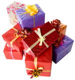 Many gift boxes Stock Photos