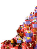 Many gift boxes Stock Photo