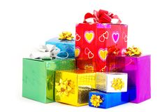 Many gifts box Royalty Free Stock Photography