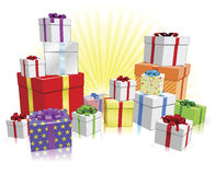 Many gifts concept Royalty Free Stock Image