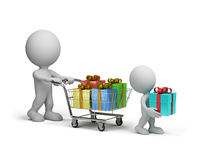 Many gifts Stock Images
