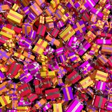 Many gifts. Many gift presents 3D render christmas birthday Royalty Free Stock Photos