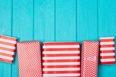 Free Many Gifts In A Red And White Wrapper Royalty Free Stock Image - 99045956