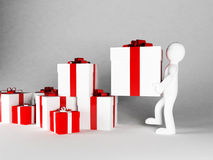 Many gifts specifically for a holiday Stock Photo