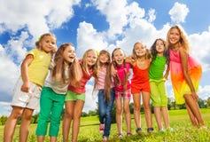 Many girls hug Stock Photography