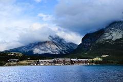 Many Glacier Hotel Royalty Free Stock Photos