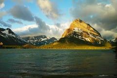 Many Glacier lake Stock Photography