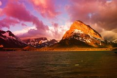 Many Glacier lake Royalty Free Stock Photography