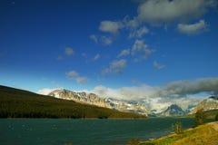Many Glacier lake Stock Image