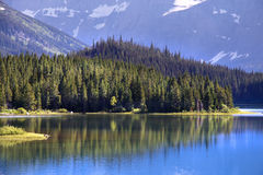 Many Glaciers lake Royalty Free Stock Photo