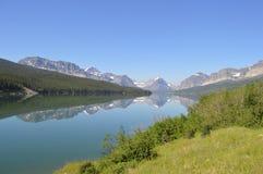 Many Glaciers Reflection Stock Photo