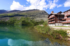 Many Glaciers resort Stock Photo