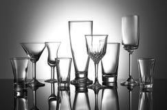 Many glass. On white background Stock Photos