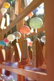 Many glass wind chimes stock images