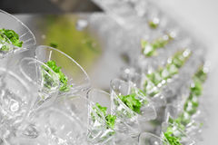 Many glasses Royalty Free Stock Image