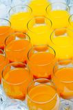 Many Glasses On Buffet Table Royalty Free Stock Photography